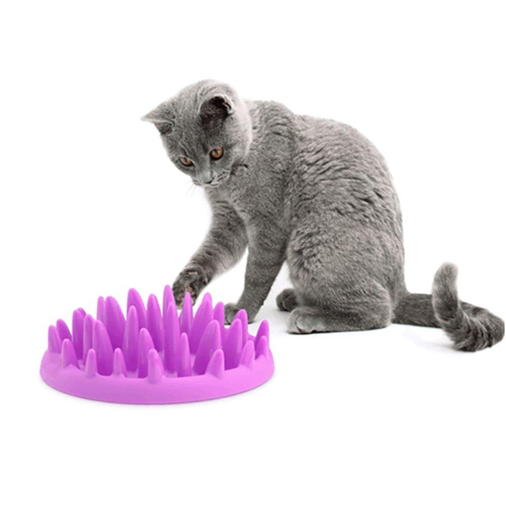PanDaDa Dog Cat Slow Food Bowl Pet Diet Interactive Feeder Bowl Non-Slip Jungle Slow Food Anti-Digestive Dog Food Basin for Cats