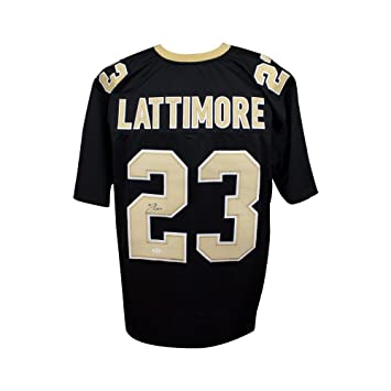 Marshon Lattimore Autographed New Orleans Saints Custom Football Jersey JSA 0ac34b0b2