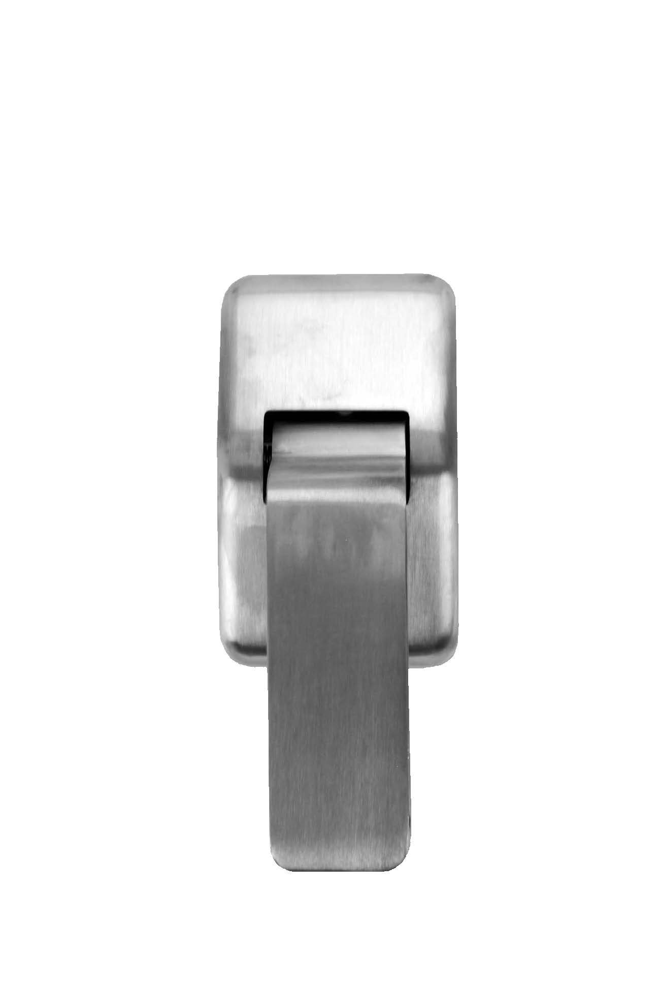 Don-Jo 4500 Brass Hospital Push-Pull Latch, Satin Stainless Steel Finish, 2-3/4'' Width x 4-1/2'' Height