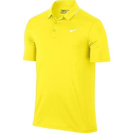 Los hombres de sólidos secos de Nike Polo de Golf (amarillo huelga ...