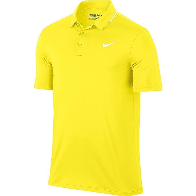Nike Los Hombres de sólidos Secos Polo de Golf (Amarillo Huelga ...
