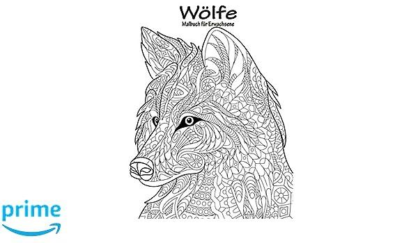 Amazon.com: Wölfe-Malbuch für Erwachsene 1 (Volume 1) (German ...