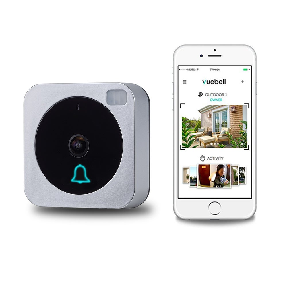 Wifi Video Doorbell, Compatible with Alexa Echo Show, Netvue Vuebell Doorbell Camera 720P HD Cam,Cloud Storage,Two-Way Audio,Motion Detection,Infrared Night Vision AC 8-24V DC 9-36V (doorbell)