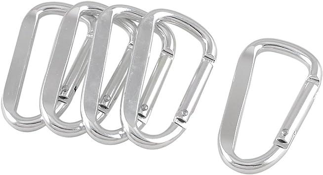 Set di 12 Portachiavi Moschettone a forma di Stella in alluminio