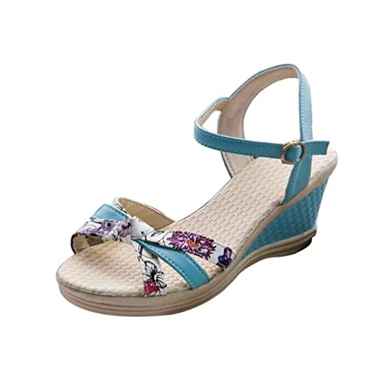 Summer Sandals Inkach Summer Wedges Sandals Women's Flip Flops Ppen Toe High-Heeled Shoes