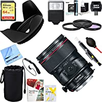 Canon (2273C002) TS-E 50mm f/2.8L Macro Tilt-Shift EF-Mount Lens + 64GB Ultimate Filter & Flash Photography Bundle