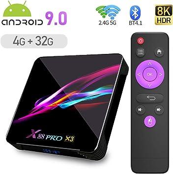 Android 9.0 TV Box, YAGALA X3 Android Box 4GB DDR3 32GB eMMC ...