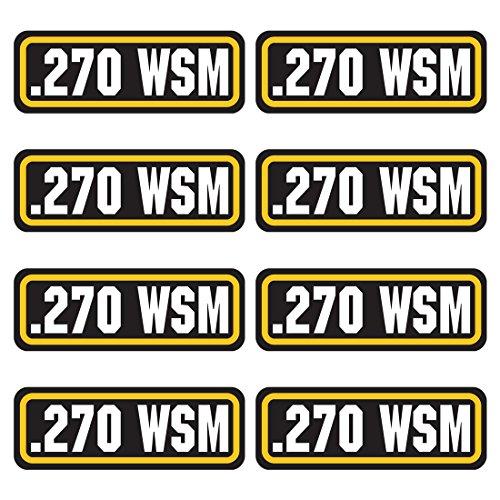 AZ House of Graphics 270 WSM Ammo Sticker 8 Pack