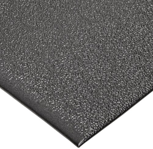 """NoTrax T41 Heavy Duty PVC Safety/Anti-Fatigue Comfort Rest Pebble Foam, For Dry Areas, 3' Width x 5' Length x 9/16"""" Thickness, Coal"""