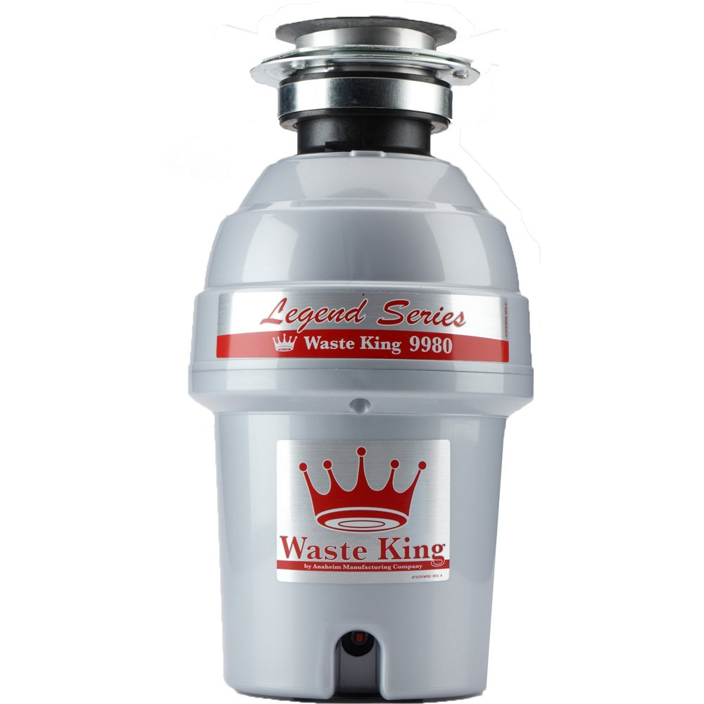 Waste King Legend Series 1 HP Continuous Feed Garbage Disposal with Power Cord - (9980)