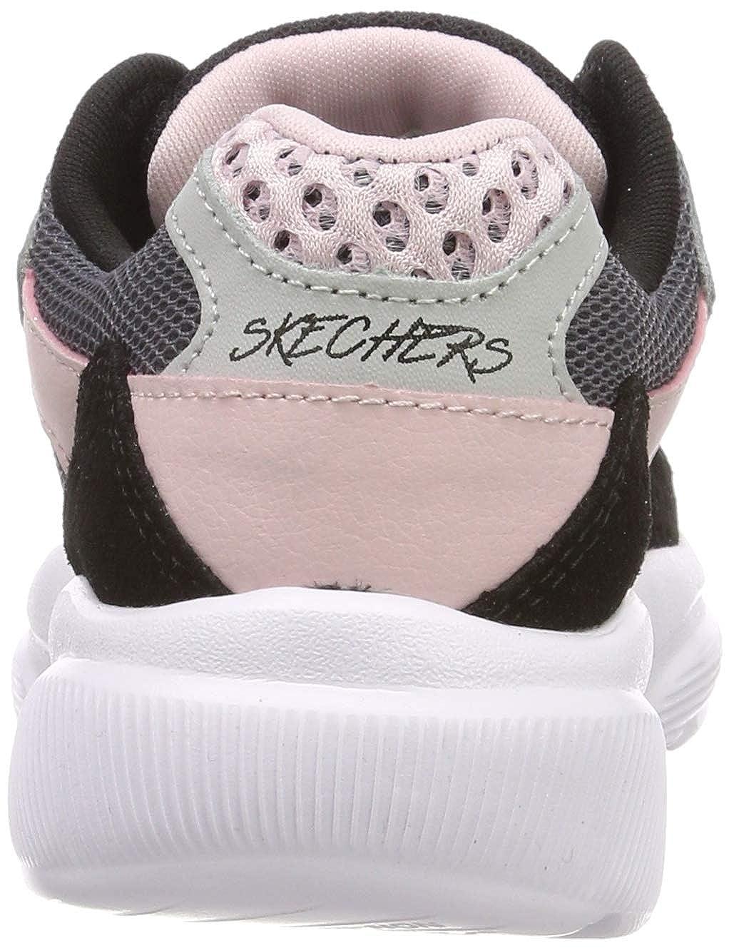 Skechers Mädchen Meridian charted Sneaker, BlauMehrfarbig