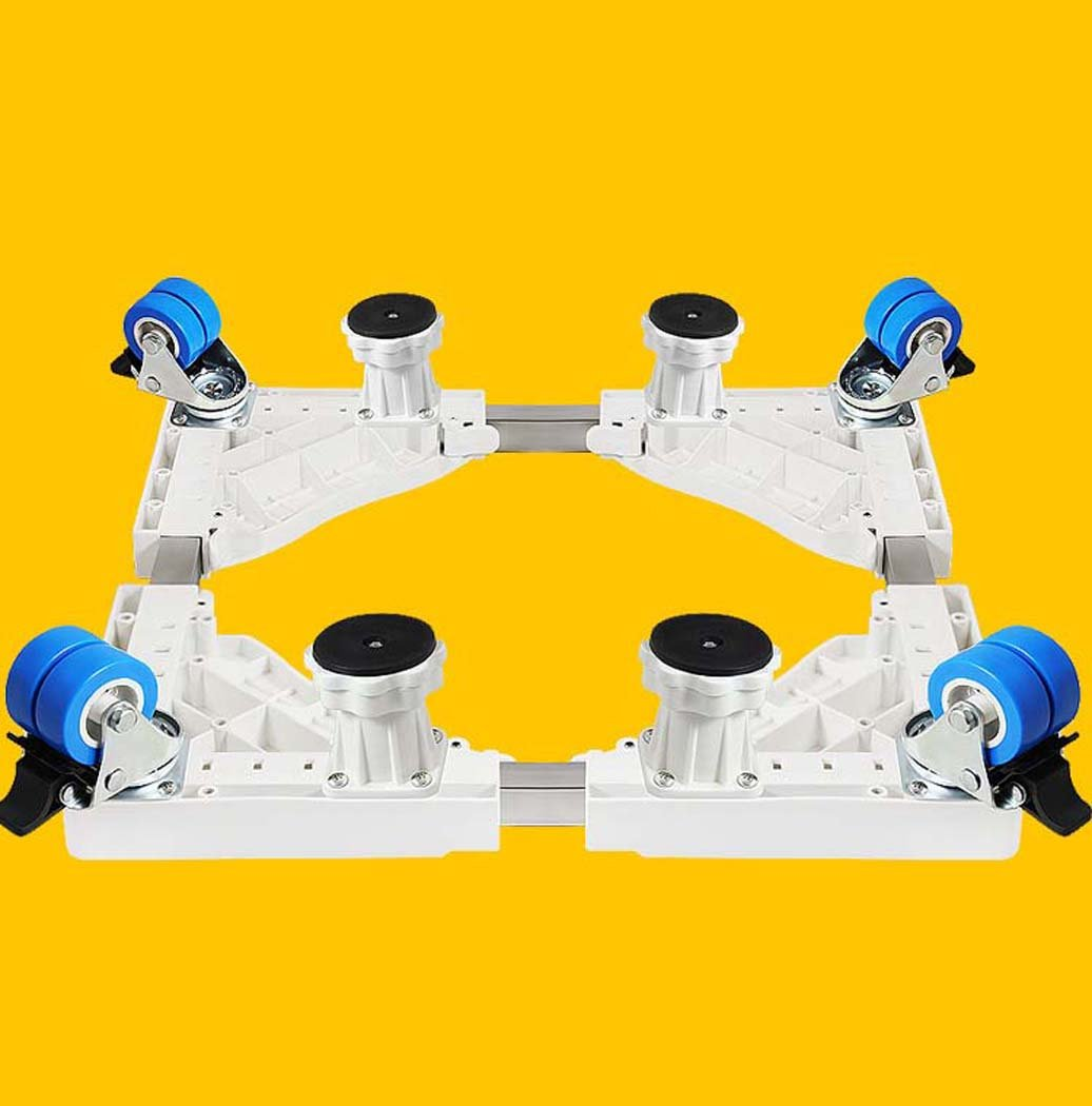 DSHBB Washing Machine Base, Universal Multi-functional Adjustable Base With Casters,Multi-function Trolley For Washing Machine/Refrigerator/Dryer/Cabinet (Color : White)