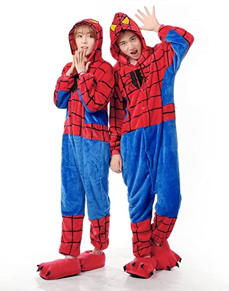 in vendita 554e0 79568 GOUS Spider-Man Adulto Uomini Donne Halloween Natale Animal ...