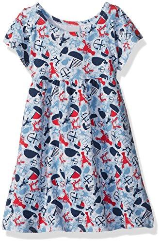 Flap Happy Big Girls' Classic Tee Dress, Lobster Lagoon, 5 ()