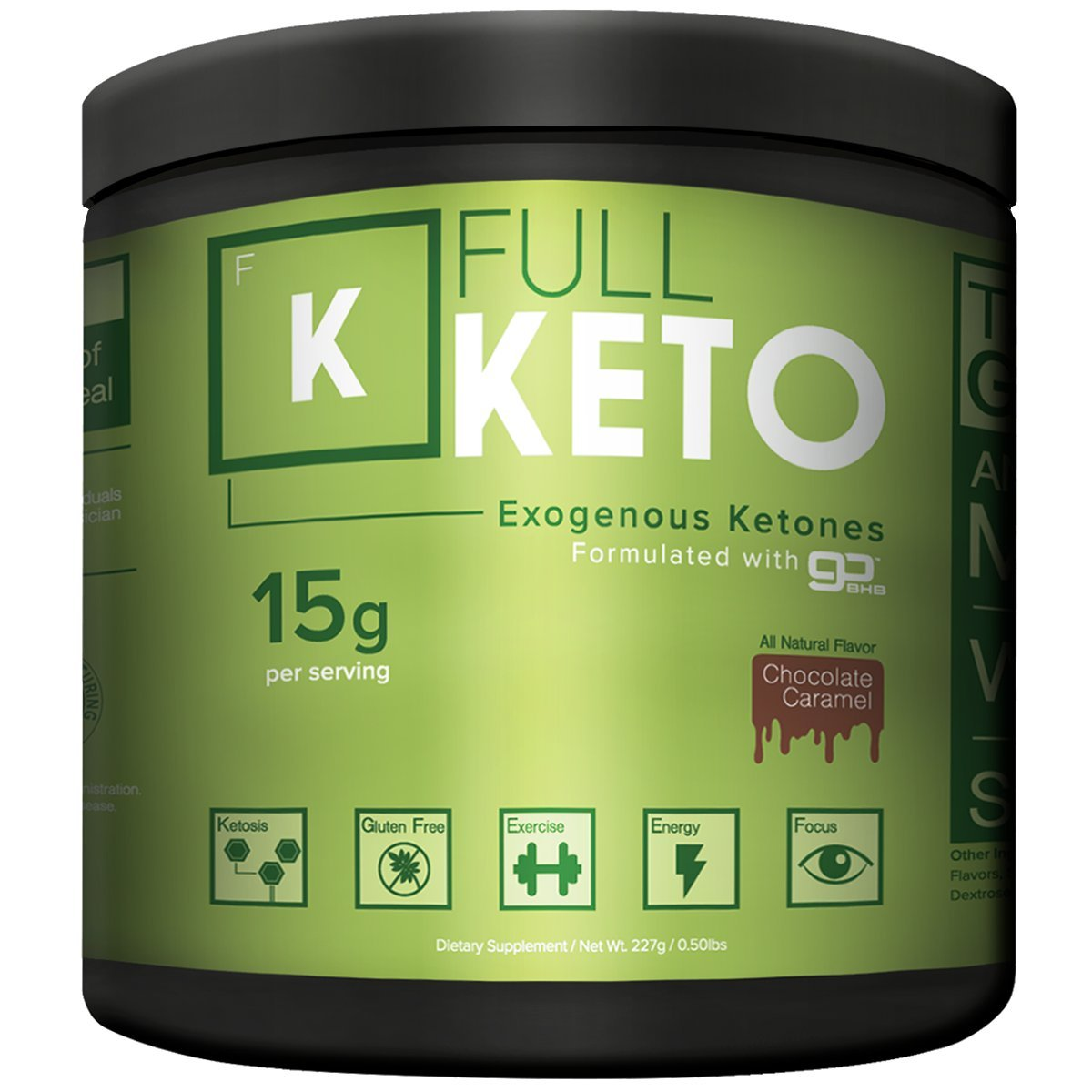 Exogenous Ketones Supplement Full Keto 15g Per Serving 15 Minutes to Ketosis Chef Formulated Chocolate Flavor Beats Every Taste Test