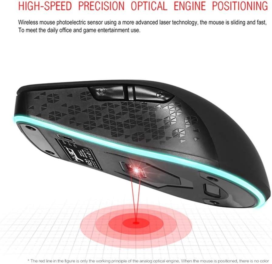 BINGFEI for M20 Wireless Game Mouse 2.4 GHz 2400 DPI Optical USB LED Adjustable Lighting Ergonomic Charging Mouse