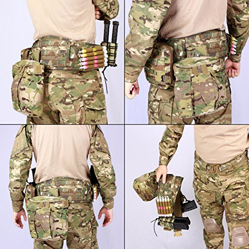 IDOGEAR Tactical Belt Padded Patrol Molle Battle Belt 1000D High Density Nylon Padded Combat Waist Belts Airsoft Hunting Shooting Outdoor Gear MultiCam by IDOGEAR (Image #3)