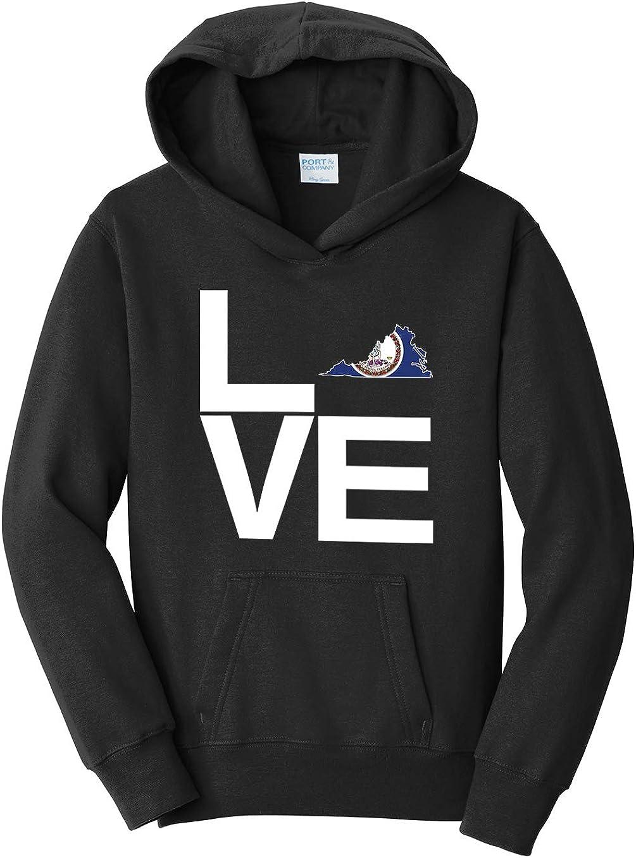 Tenacitee Girls Love Virginia Hooded Sweatshirt