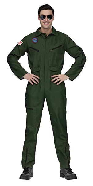 Amazon.com: uhc disfraz de aviador militar, overol traje ...