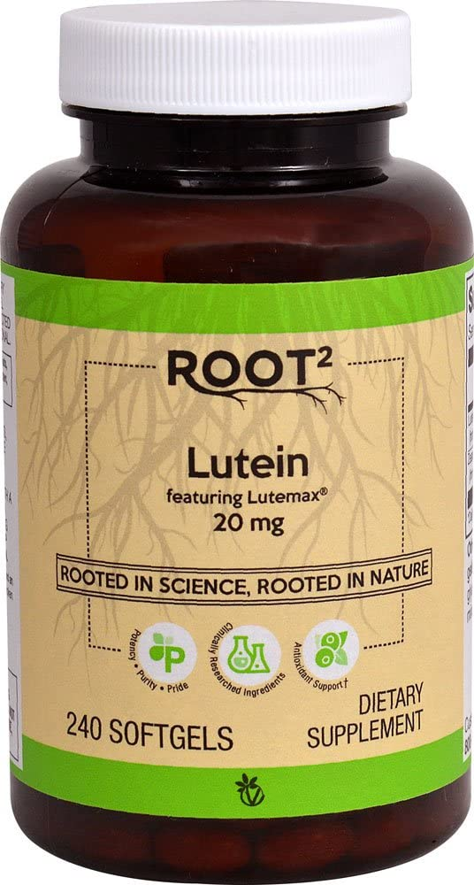 Vitacost ROOT2 Lutein 20 Milligram Featuring Lutemax 240 Softgels