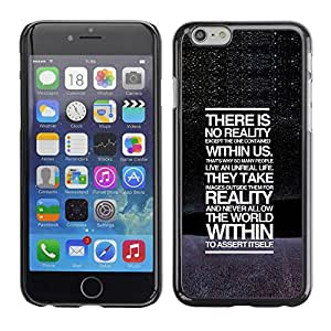 Paccase / SLIM PC / Aliminium Casa Carcasa Funda Case Cover para - There Is No Reality Deep Message - Apple Iphone 6