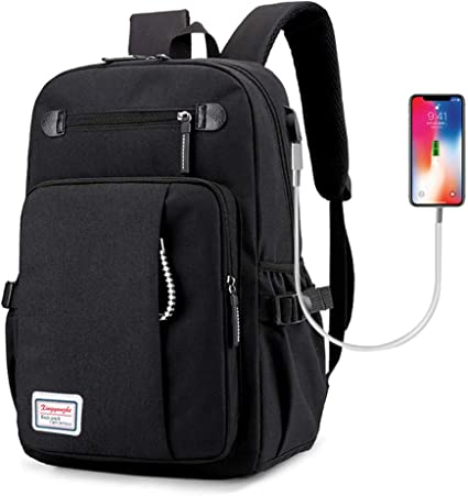 Computer Laptop USB Charging Waterproof Backpack School BagPack Adult Student Ba