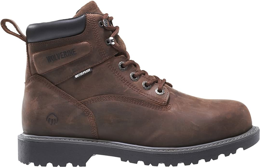 "Wolverine Men's Floorhand Waterproof 6"" Steel Toe Work Shoe"