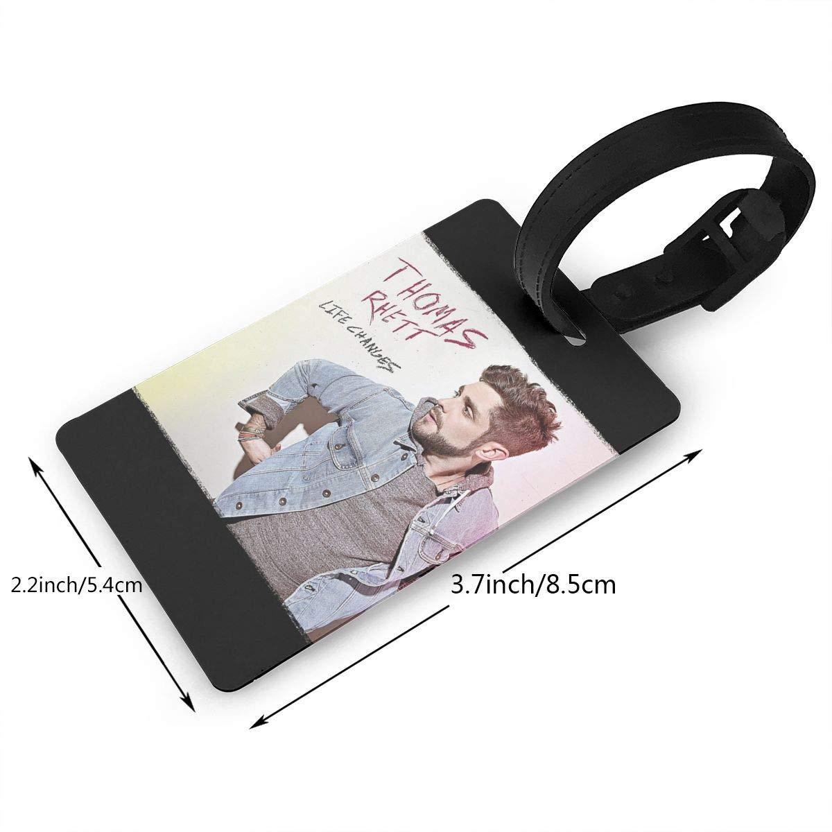 Luggage Tags 2.2x3.7inch HushuangPm Classic Thomas Rhett Life Changes Tags Luggage Etag Holders PVC