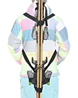 Ski Tote | Skis and Poles Backpack Carrier | Ski and Pole Carry Sling Strap| ski Shoulder Strap -Hold your Poles together -Free your hand! Stronger than One Single Sling.