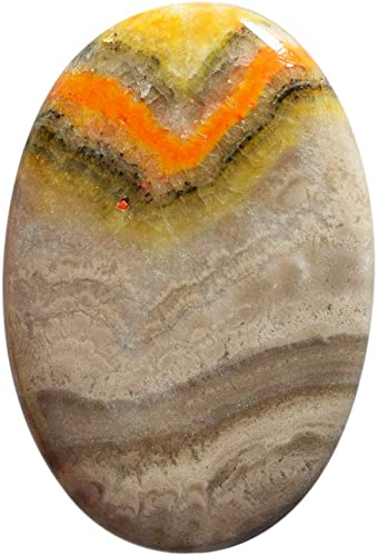 46.5 Ct Oval Shape Bumble Bee Cabochon Loose Gemstone For Making Jewelry Natural Bumble Bee Jasper 40X25X5 mm AAA Quality Bumble Bee