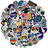 NASA Stickers for Laptop - Space Explorer Galaxy Vinyl Sticker for Water Bottle Hydro Flask Car Bumper Skateboard Luggage - Spaceman Spacecraft Universe Planet Graffiti Decals for Vsco Girl Boy - 50 Pack