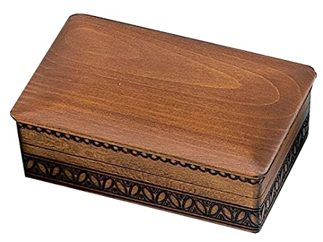 Amazoncom Handmade JEWELRY BOX Maple Finish Linden Wood Keepsake
