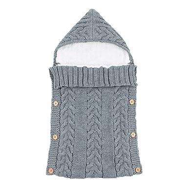 Silverone Bebé Swaddle Wrap Cálido Tejido Recién Nacido Bebé Saco De Dormir Botones Manta: Amazon.es: Ropa y accesorios