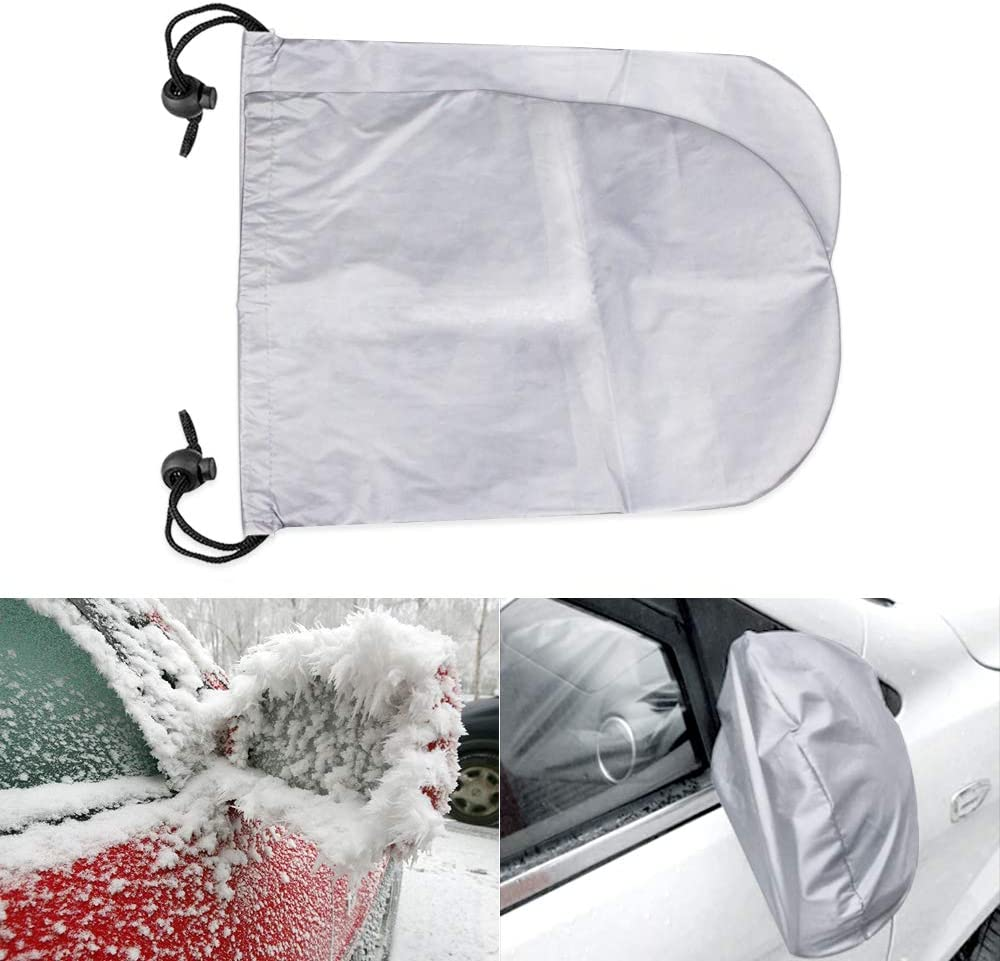 Viesyled Universial Car Rear View Mirror Sun Dust Snow Covers,Winter Rain Water Frost Proof Bird Droppings Guard Protection Side Mirror Covers Fit Most Vehicle Truck SUV Van
