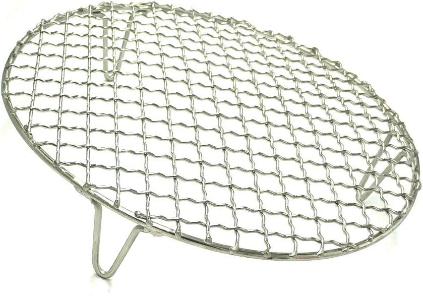 "Turbokey Round Canning Rack Stainless Steel with 2"" Height Legs Dia 8.25"" Heavyweight Cross Wire Steaming Cooling Barbecue Rack/Carbon Baking Net/Grill/Pan Grate (210mm/8.25"")"