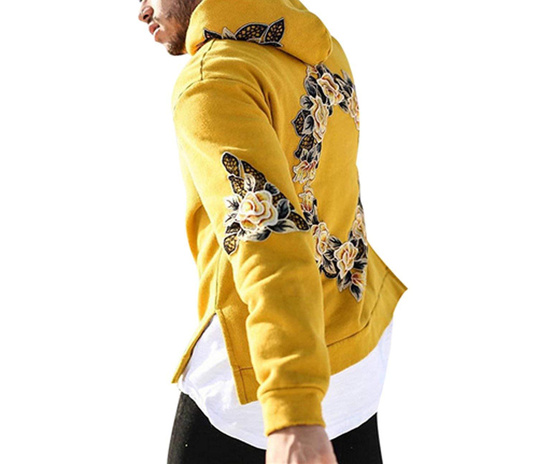 Amazon.com : Autumn New Design Flower Print Hoodies Men Hip Hop Cool Mens Hooded Pullovers Mens Sweatshirt Streetwear Hombres Sudaderas F3 t-shirt Powerful ...