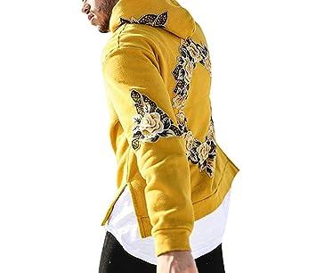 Autumn New Design Flower Print Hoodies Men Hip Hop Cool Mens Hooded Pullovers Mens Sweatshirt Streetwear