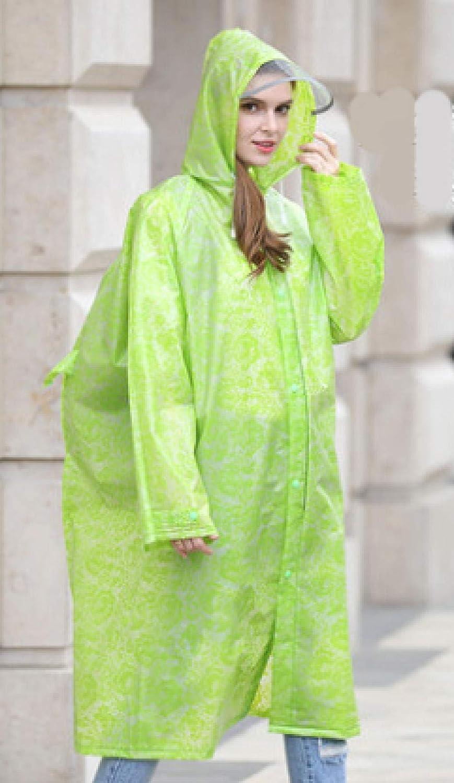 Poncho Impermeable Épaississement Eva Print Lace Raincoat