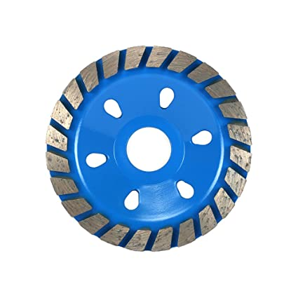 Blue Double-Row Segment Grinding Wheel Disc FIXKIT 4-1//2-Inch Diamond Grinding Cup Wheel 8 Holes