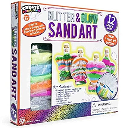 Glitter and Glow Sand Art