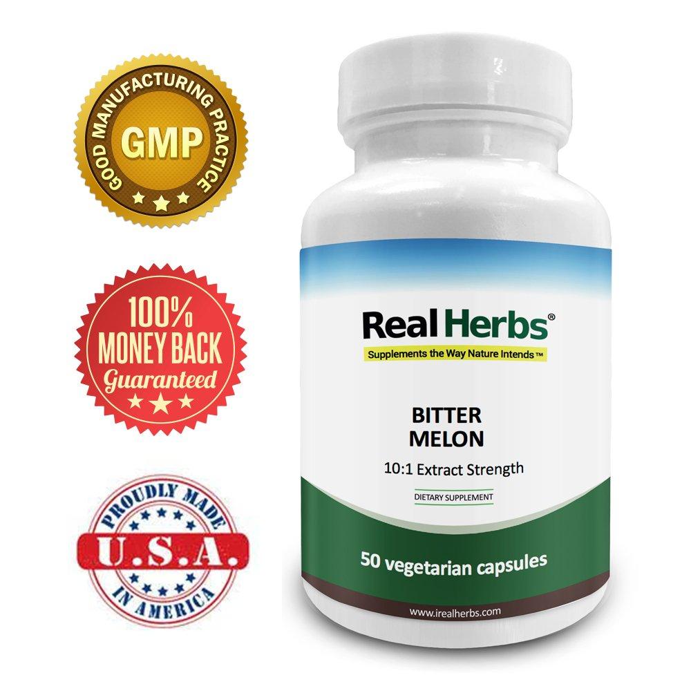 Real Herbs Extracto de melón amargo 7500mg Suplemento dietético - 50 cápsulas vegetarianas: Amazon.es: Salud y cuidado personal