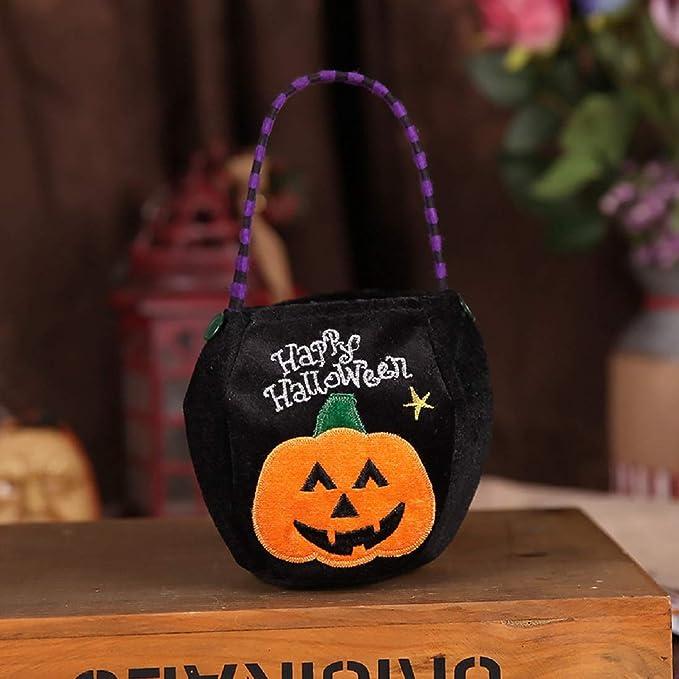 Trick or treat velvet pouch