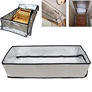 "Attic Stairs Insulation Cover for Pull Down Stair, Attic Tent 25"" x 54"" x 11"", R-Value 15.3, Extra Thick Fireproof Attic Stairway Insulator, Easy Installation"