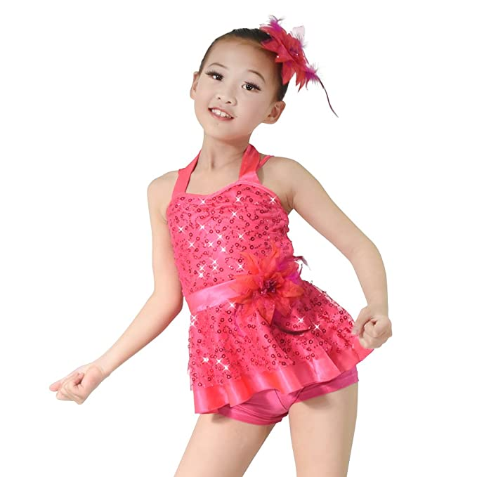 a2d006c97 Amazon.com  MiDee Dance Costume Jazz   Tap Outfits 2 Pieces Halter ...