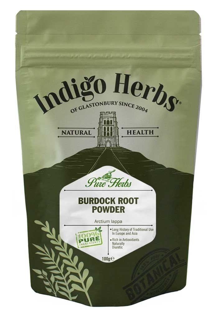 Indigo Herbs Polvo de Raíz de Bardana 100g