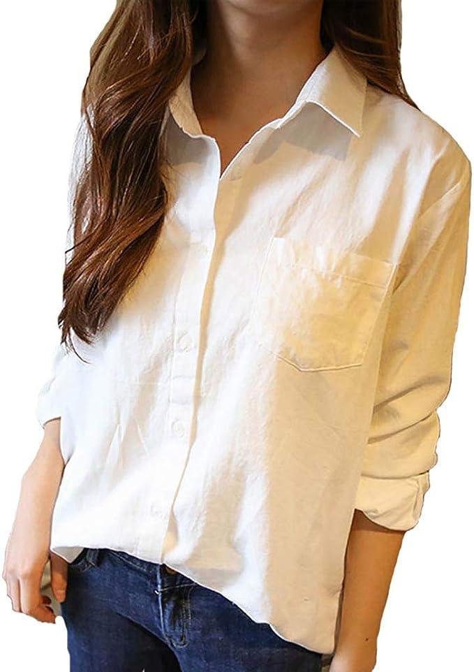 Theshy Camisa De Mangas Largas Sueltas Coreanas Color Blanco ...