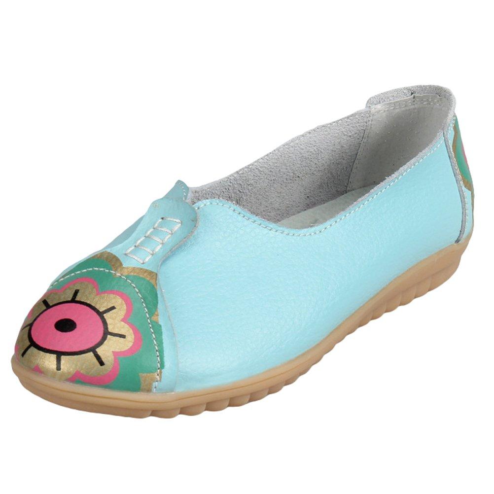 Vogstyle Femmes B01GTF7IHM Chaussures Mocassins Cuir Tendance Motif Tendance Chaussures Plates Vintage Bleu fd8d364 - fast-weightloss-diet.space