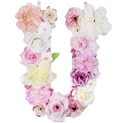 Amazon Com Darongfeng Artificial Floral Letter For Room Door Wall