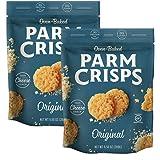 ParmCrisps Party Size Original, 9.5 oz (Pack of 2), Keto Snacks, 100% Cheese Crisps, Gluten Free, Sugar Free, Keto…