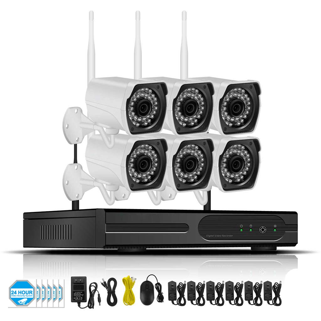 Amazon.com: Wireless Home Security Surveillance Camera System 1080P NVR Recorder Plug Play Outdoor WIFI Waterproof Remote Cameras With 2TB HDD For Built-In ...